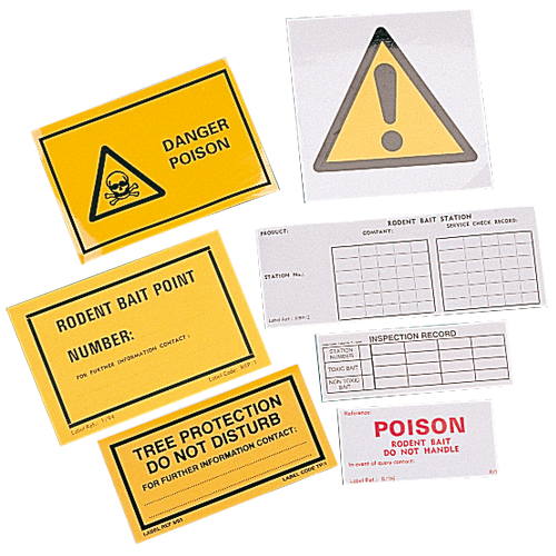Warning/Inspection Record Labels