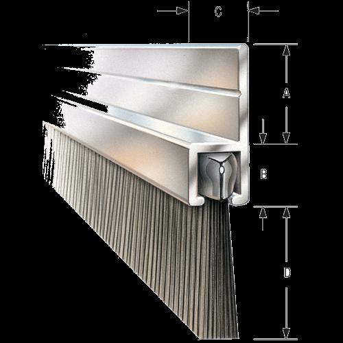 180° Flat Flange Bristle Strip