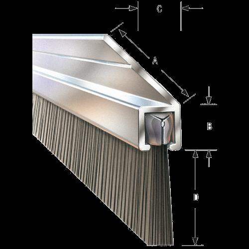 45° Angled Flange Bristle Strip