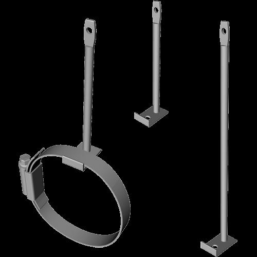 Rail Clamp, 130 - 160mm diameter