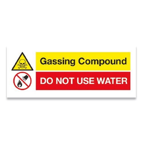 Gassing Compound Label