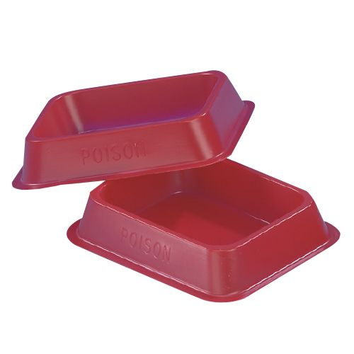 No.2 - Small oblong (85mm x 65mm x 21mm deep) red tray